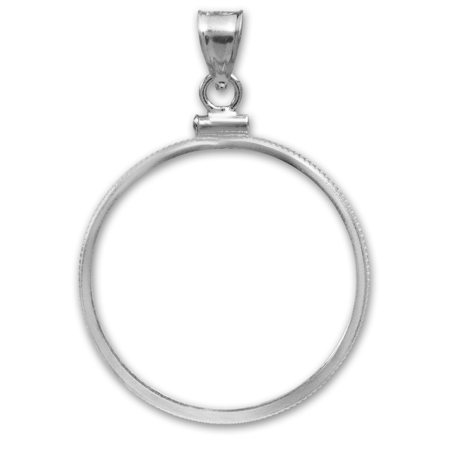 Sterling Silver Screw-Top Plain Coin Bezel-For Silver Dollar